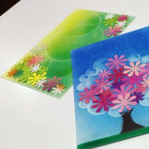 パステルアート カード