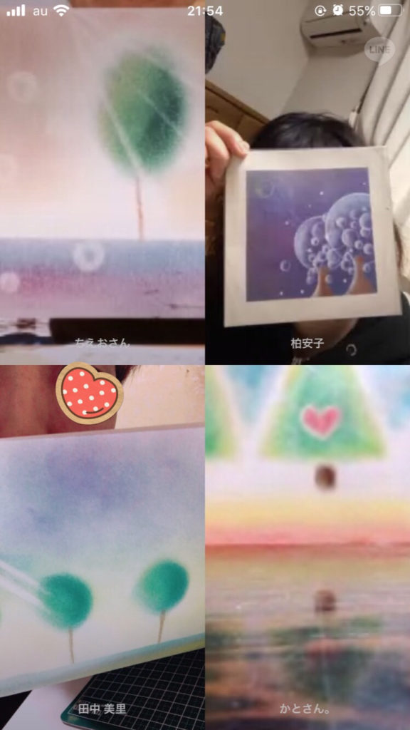 オンラインパステルアート体験会